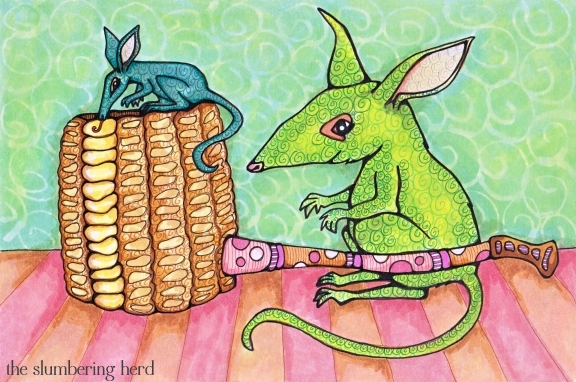 13 - Bilbies and Corn Cob Pipe Ink3