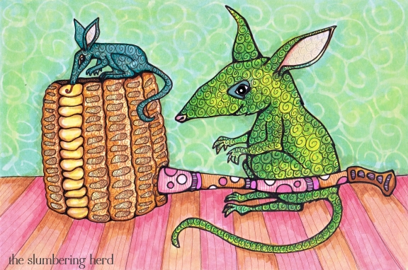 Bilbies and Corn Cob Pipe, Copic Markers, 9