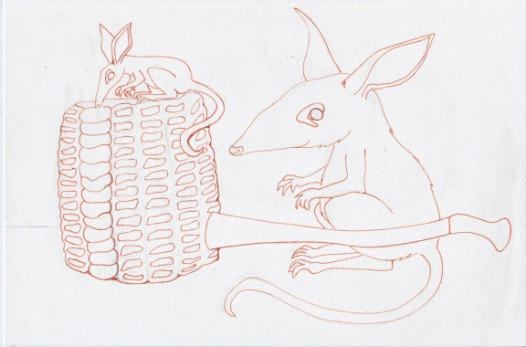 6 - Bilbies and Corn Cob Pipe Ink