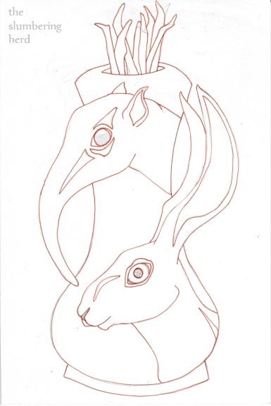 6 - Ink, Shrew Hare Urn