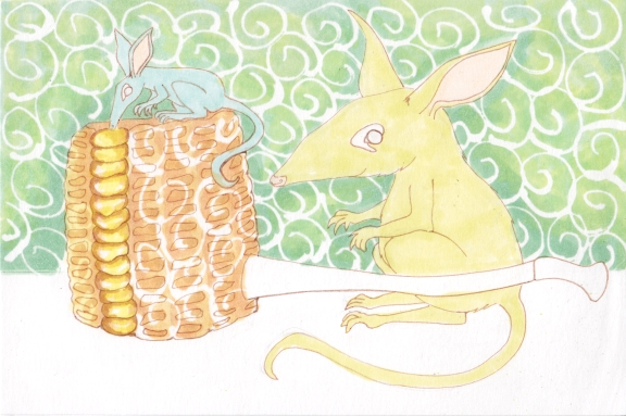 7 - Bilbies and Corn Cob Pipe Masquepen