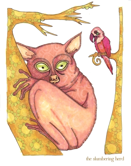 12 - A Shy Tarsier Named Nee, Ink3