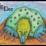 A Mole Named Dee in Copic Markers with digital text