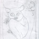 2 - A Shy Tarsier Named Nee, Sketch2