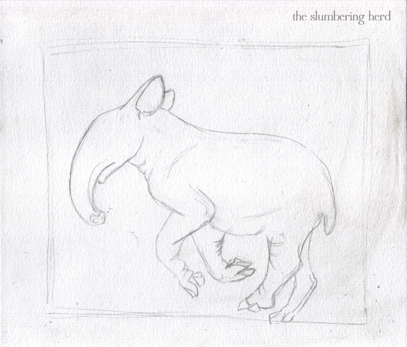 2 - Running Tapir with Puffin Sketch2