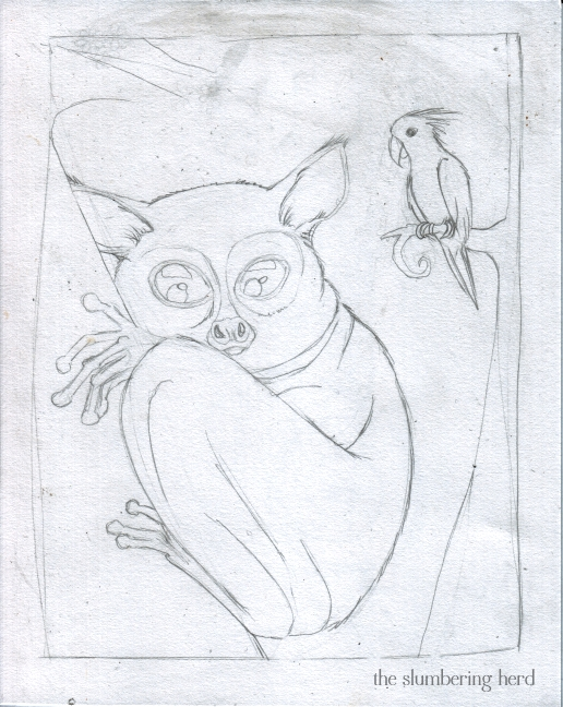3 - A Shy Tarsier Named Nee, Sketch3
