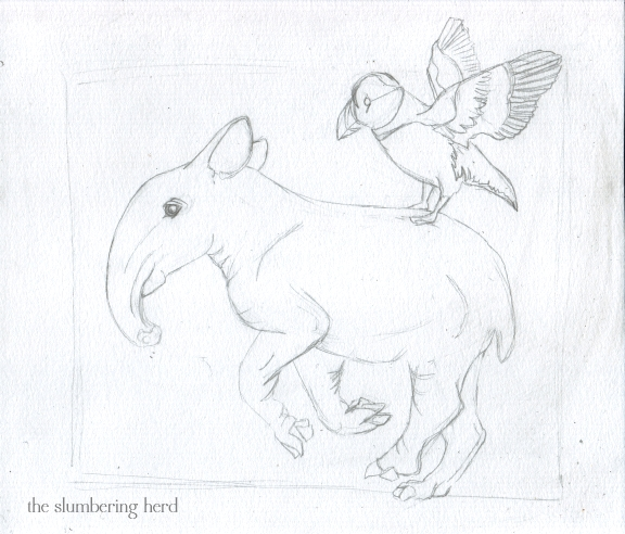 3 - Running Tapir with Puffin Sketch3