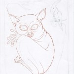 4 - A Shy Tarsier Named Nee, Ink1