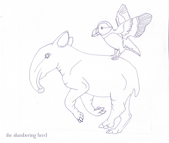 4 - Running Tapir with Puffin Purple Ink1