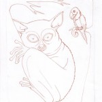 5 - A Shy Tarsier Named Nee, Ink2