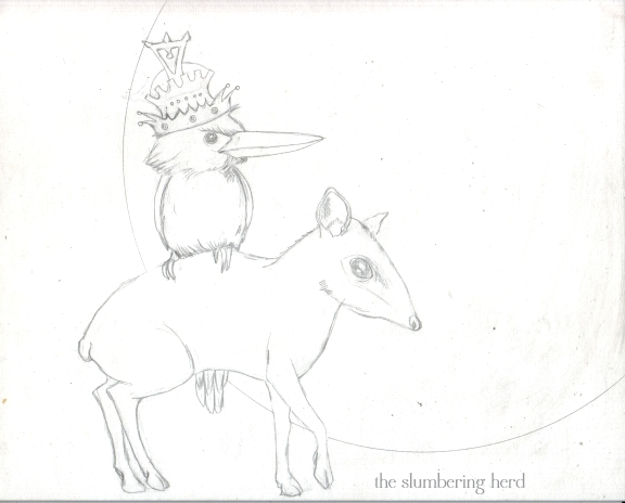 5 - Kingfisher and Mouse Deer Sketch5
