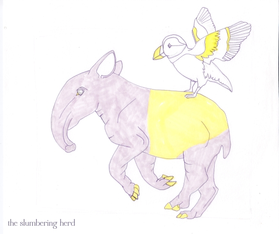 5 - Running Tapir with Puffin Copic1