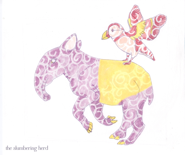 6 - Running Tapir with Puffin Masquepen1