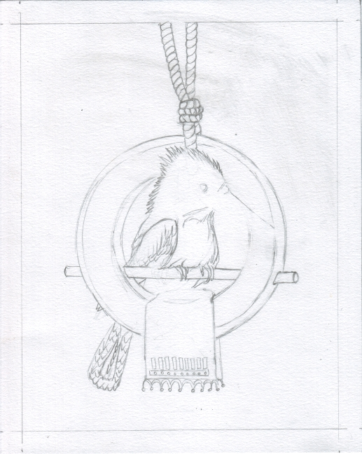 03 Kookaburra Holds Court Sketch3