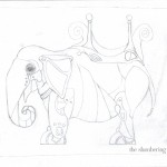 03 Steampunk Elephant with Cat Sketch3