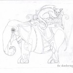 05 Steampunk Elephant with Cat Sketch5