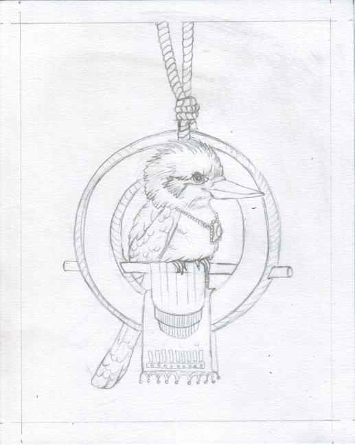 06 Kookaburra Holds Court Sketch6