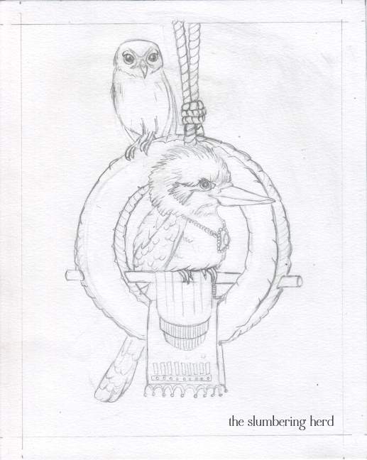 07 Kookaburra Holds Court Sketch7