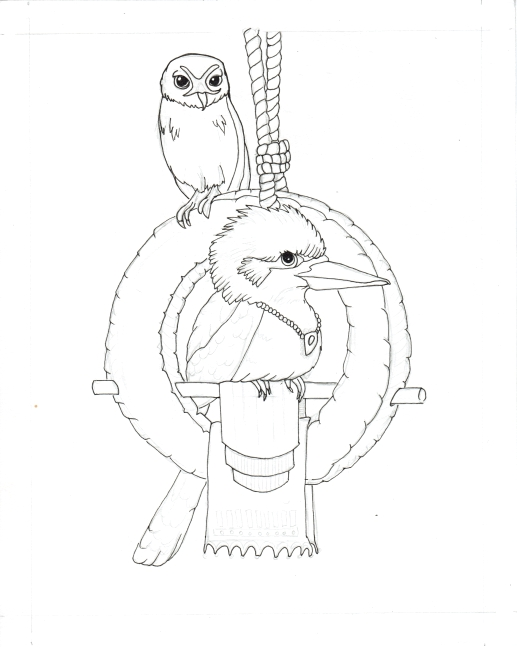 08 Kookaburra Holds Court Ink1