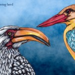 14 Hornbill and Kingfisher digital dark