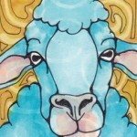 03 Blue Swirl Sheep Ink2