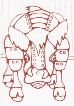 03 Highland Cow Robot Ink3