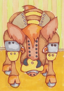 04 Highland Cow Robot Color1