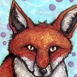 "Red Fox One, 2.5"" x 3.5"" Copics"