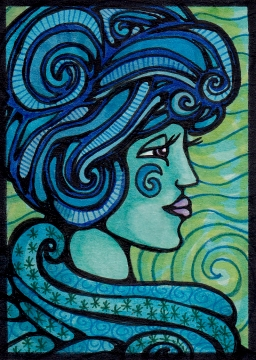 08 Water Elemental Maiden ATC