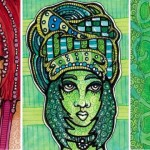 Modern Shaman Maiden, Tall Green Scarf, The Nose Knows