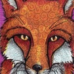 "Red Fox Two, 2.5"" x 3.5"" Copics"