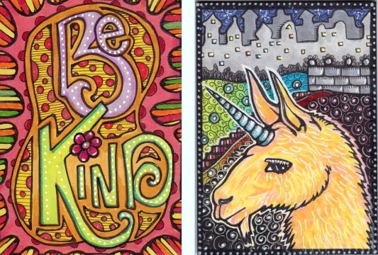 Be Kind & Unicorn ATCs