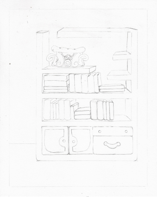 01 Books and Cats Sketch1