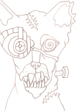 01 Zombie Gearhead Cat Ink1