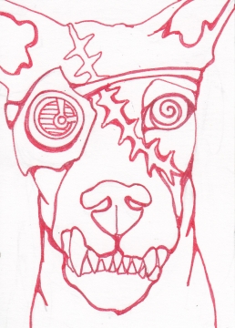01 Zombie Gearhead Dog Ink1