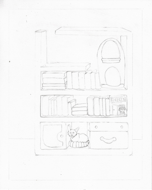 02 Books and Cats Sketch2