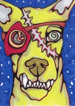 04 Zombie Gearhead Dog Ink2