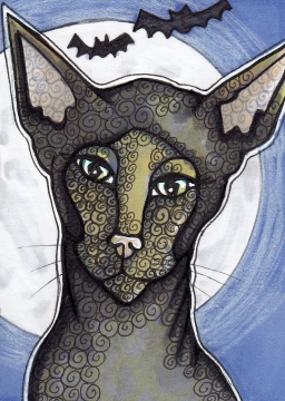 05 Moon Cat ATC