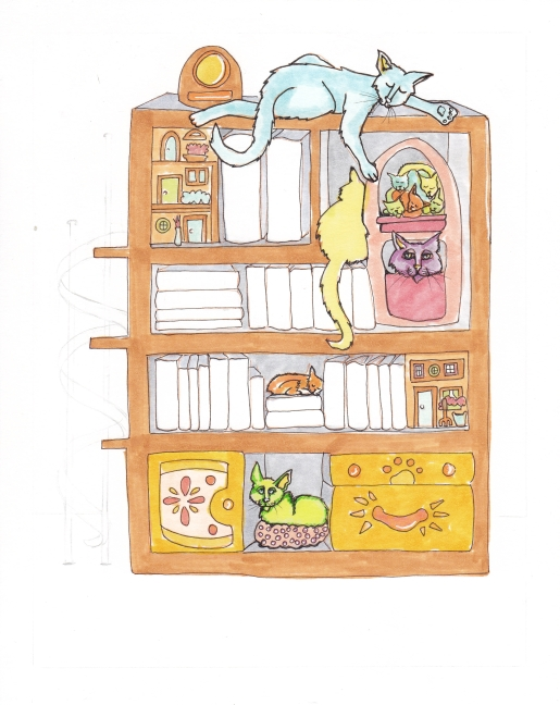 09 Books and Cats Color3