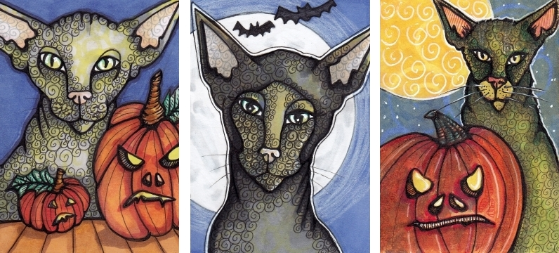 3 Halloween Cats