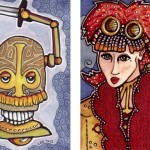 Lilah Steampunk and Geoffrey Teeth, Artist Trading Cards