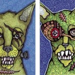Zombie Cat and Zombie Gearhead Cat