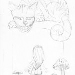 01 Alice and Cheshire Cat Sketch1