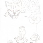 02 Alice and Cheshire Cat Ink1