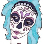 03 Teal Lavender Sugar Skull Girl Color1