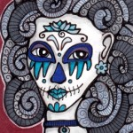 05 Blue Gray Sugar Skull Girl