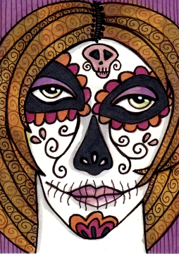 Baleful Sugar Skull Girl