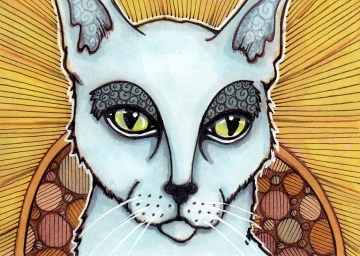 03 Patron Cat of Saints ATC