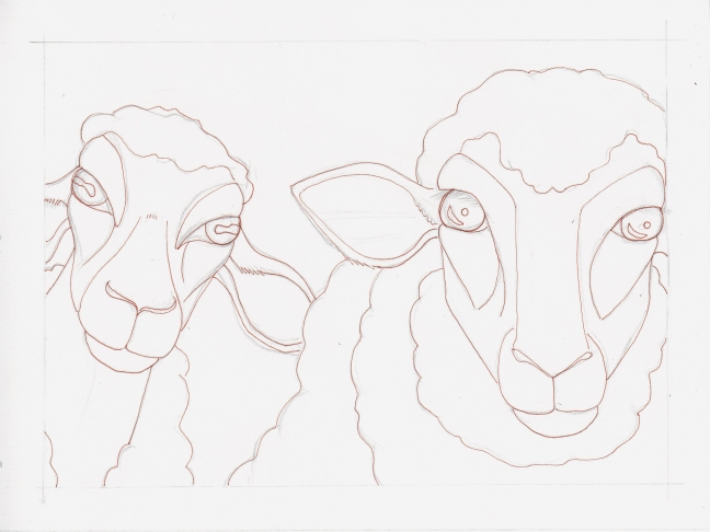 04 Two Sheep ink1