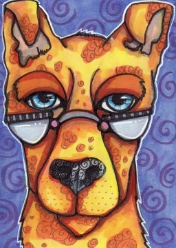08 ACEO Original Dog Gabriel